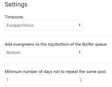 Hiplay posting settings