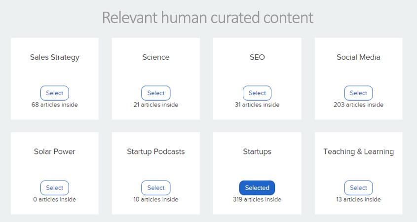 quuu content categories