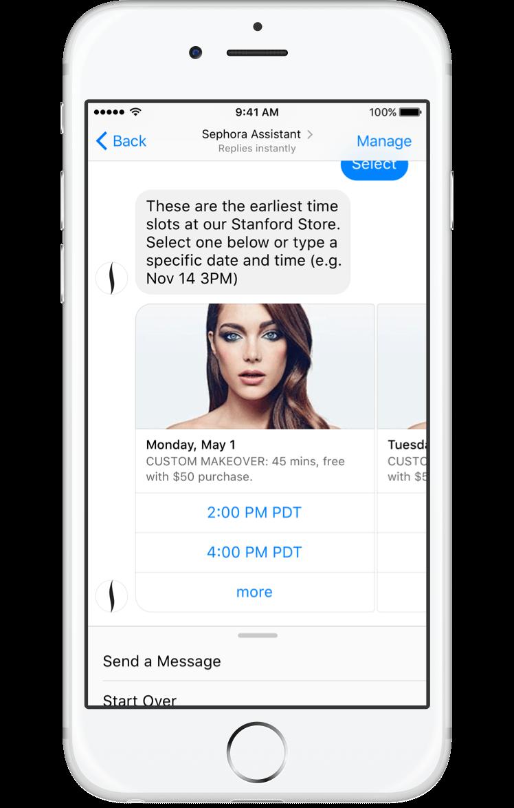 sephora facebook messenger bot