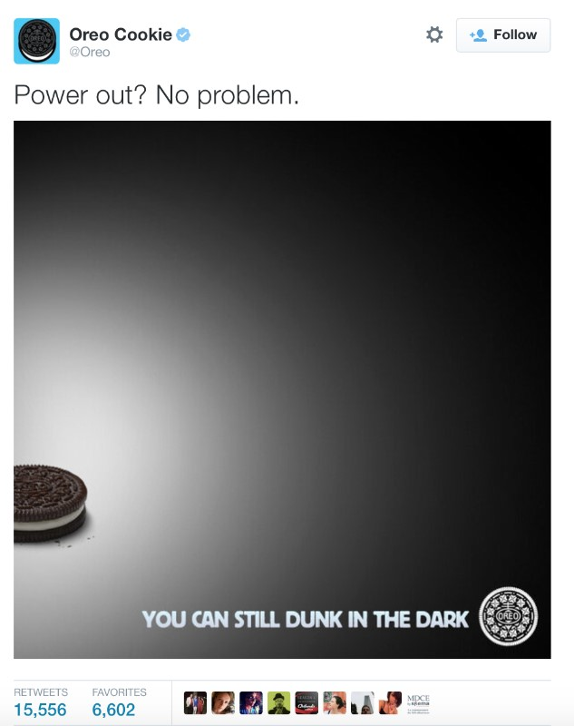Oreo brand marketing message